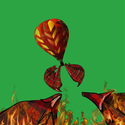 freetoedit fire balloon air red