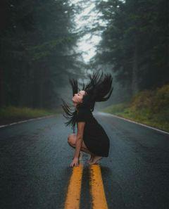 freetoedit photography girl hair road