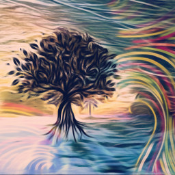 freetoedit remixed oilpainting artisticmask treeoflife