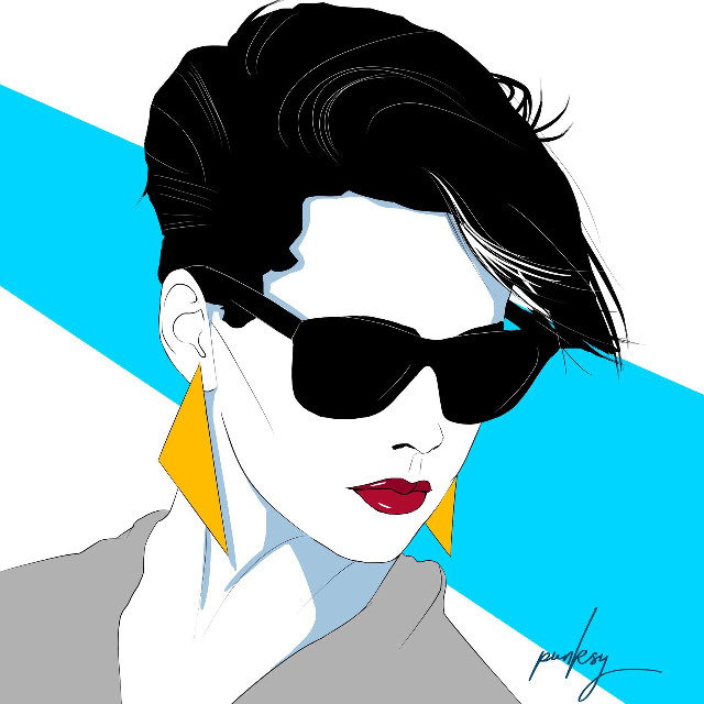 Distance. #original #artdeco #synthpop #retrowave #techno #popart #fashion #moda #model #cover #comics #1980s