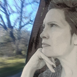 selfie portrait maturewoman artist photographer