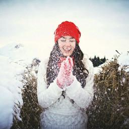 freetoedit photography girl nature winter
