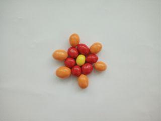 freetoedit redwhiteandorange candies flower