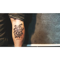 tattoooftheday typography typographytattoo blacktattoo tattooed