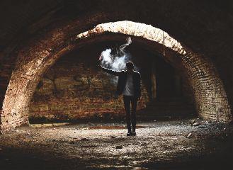 smoke people dramaeffect lights mood freetoedit