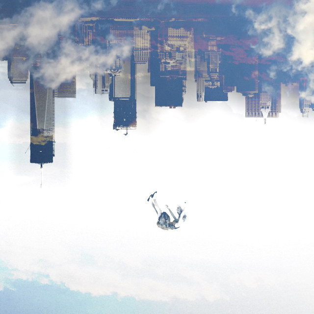 Falling from Reality #FreeToEdit #falling #city #surreal #surrealism #cityintheclouds #clouds