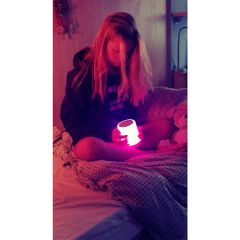 pink light tumblr blonde bedtime