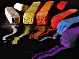 bunt colorful chalk black contrast freetoedit