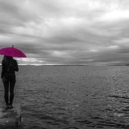 selectivecolor selectivecolour pink umbrella