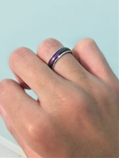 purple moodring ring colorful colors