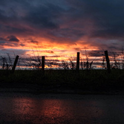 sunset somersetengland posts aftertherain