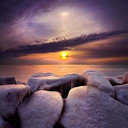 peaceful peace sunrise sunset shoreline