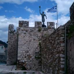nafpaktos walls greece sky greekflag