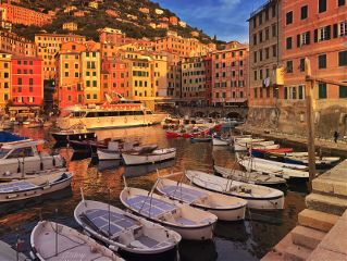 italy camogli sunset sunsetlight sunsetcolors