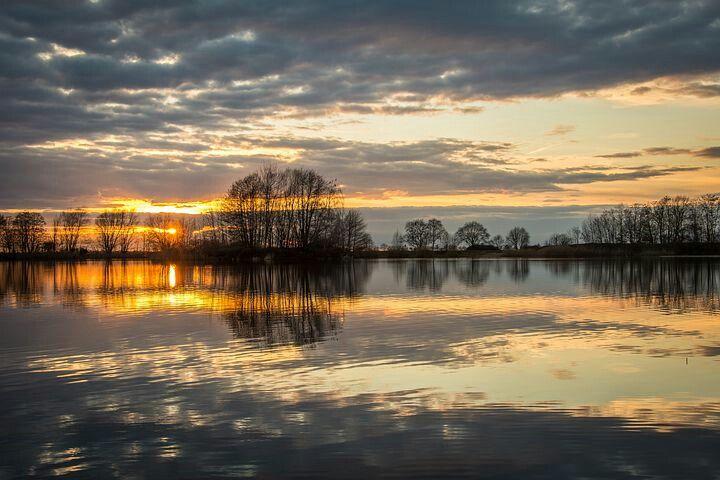 nature lake sunset photography