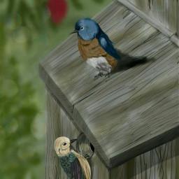 freetoedit wdpbirdhouse bird digita digitalart