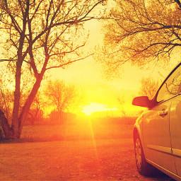 freetoedit car colorful sunset sun