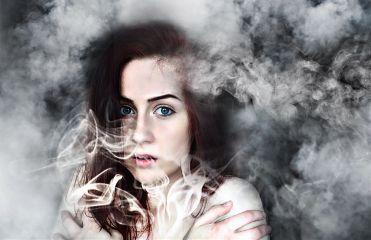 mist smoke edited looking girl freetoedit